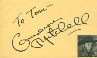 CAMERON MITCHELL - INSCRIBED SIGNATURE
