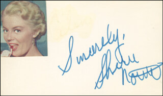 SHEREE NORTH - AUTOGRAPH SENTIMENT SIGNED