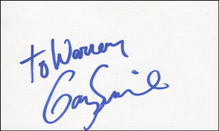GARY SINISE - INSCRIBED SIGNATURE