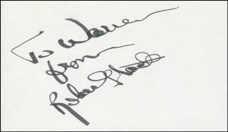 ROBERT STACK - AUTOGRAPH NOTE SIGNED
