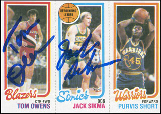JACK SIKMA - TRADING/SPORTS CARD SIGNED CO-SIGNED BY: TOM OWENS