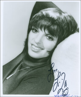 LIZA MINNELLI - AUTOGRAPHED SIGNED PHOTOGRAPH CO-SIGNED BY: GEORGE HURRELL
