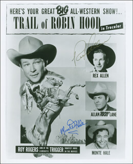 REX ALLEN - AUTOGRAPHED SIGNED PHOTOGRAPH CO-SIGNED BY: MONTE HALE