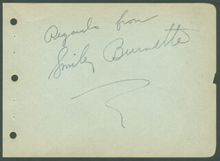 SMILEY (LESTER) BURNETTE - AUTOGRAPH SENTIMENT SIGNED  - HFSID 298639