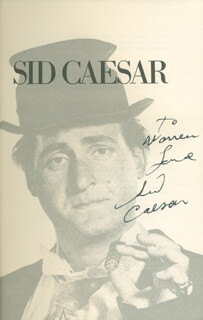 SID CAESAR - INSCRIBED BOOK SIGNED