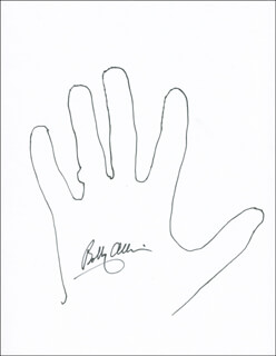 Autographs: BOBBY ALLISON - HAND/FOOT PRINT OR SKETCH SIGNED
