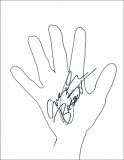 Autographs: ANGELA BASSETT - HAND/FOOT PRINT OR SKETCH SIGNED