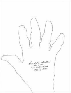 Autographs: DONALD G. STRATTON - HAND/FOOT PRINT OR SKETCH SIGNED