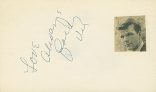 BOBBY VEE - AUTOGRAPH SENTIMENT SIGNED