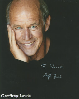 GEOFFREY LEWIS - INSCRIBED PRINTED PHOTOGRAPH SIGNED IN INK