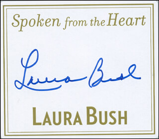 FIRST LADY LAURA BUSH - BOOK PLATE SIGNED