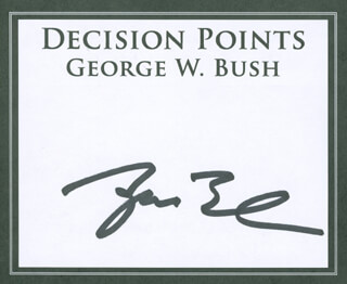 PRESIDENT GEORGE W. BUSH - BOOK PLATE SIGNED  - HFSID 298713