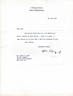 Autographs: REAR ADMIRAL RICHARD E. BYRD - TYPED LETTER SIGNED 06/21/1933