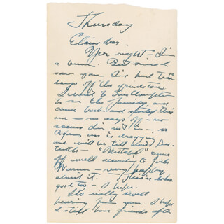 GARY COOPER - AUTOGRAPH LETTER SIGNED 10/06/1955  - HFSID 298722
