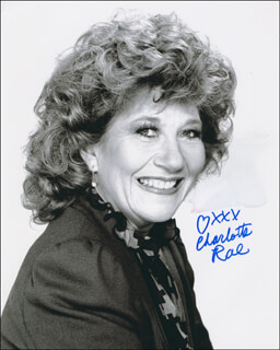 CHARLOTTE RAE - AUTOGRAPHED SIGNED PHOTOGRAPH