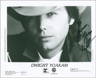 DWIGHT YOAKAM - AUTOGRAPHED INSCRIBED PHOTOGRAPH