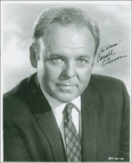 CARROLL O'CONNOR - AUTOGRAPHED INSCRIBED PHOTOGRAPH