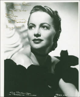 OLIVIA DE HAVILLAND - AUTOGRAPHED INSCRIBED PHOTOGRAPH 05/18/1979