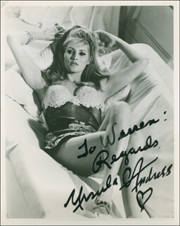 URSULA ANDRESS - AUTOGRAPHED INSCRIBED PHOTOGRAPH