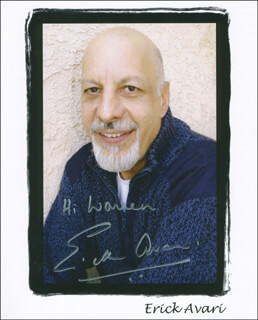 ERICK AVARI - AUTOGRAPHED INSCRIBED PHOTOGRAPH