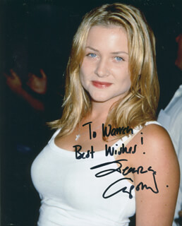 JESSICA CAPSHAW - AUTOGRAPHED INSCRIBED PHOTOGRAPH
