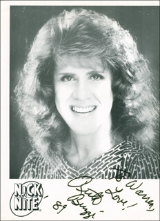 RUTH BUZZI - AUTOGRAPHED INSCRIBED PHOTOGRAPH 1989