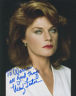 MEG FOSTER - AUTOGRAPHED INSCRIBED PHOTOGRAPH
