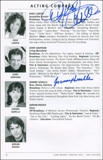 PAPER DOLL PLAY CAST - SHOW BILL SIGNED CIRCA 2006 CO-SIGNED BY: DIXIE CARTER, JOANNE GENELLE