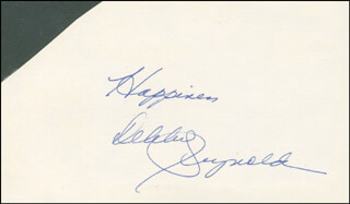 DEBBIE REYNOLDS - AUTOGRAPH SENTIMENT SIGNED