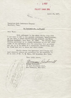 NORMAN ROCKWELL - DOCUMENT SIGNED 04/28/1937