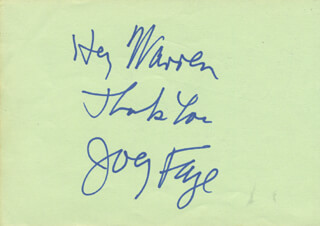 JOEY FAYE - AUTOGRAPH NOTE SIGNED