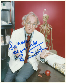 BARNARD HUGHES - AUTOGRAPHED INSCRIBED PHOTOGRAPH