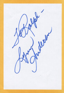 LYNN ANDERSON - INSCRIBED SIGNATURE