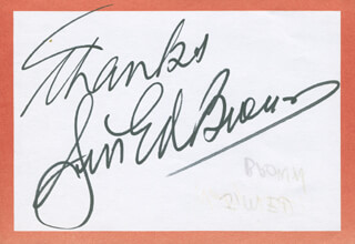 JIM ED BROWN - AUTOGRAPH SENTIMENT SIGNED