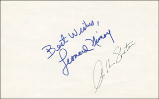 STAR TREK TV CAST - AUTOGRAPH SENTIMENT SIGNED CO-SIGNED BY: STAR TREK MOVIE CAST , WILLIAM SHATNER, LEONARD NIMOY