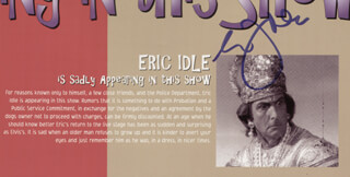 ERIC IDLE - PROGRAM SIGNED