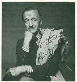 DAVID NIVEN - AUTOGRAPHED INSCRIBED PHOTOGRAPH
