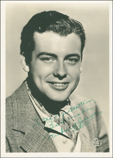 RICHARD GREENE - AUTOGRAPHED INSCRIBED PHOTOGRAPH