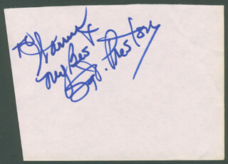 Autographs: DICK SIMMONS - AUTOGRAPH NOTE SIGNED IN CHARACTER