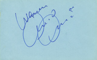 ARMAND ASSANTE - INSCRIBED SIGNATURE