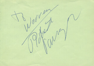 ROBERT VARGAS - INSCRIBED SIGNATURE