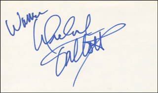 MICHAEL TALBOTT - INSCRIBED SIGNATURE