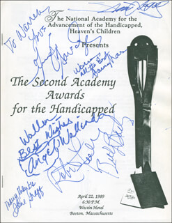 ROBERT FULLER - INSCRIBED PROGRAM SIGNED CIRCA 1989 CO-SIGNED BY: BARRY MORSE, ANGEL (ELIZABETH) WALLENDA, JANE GRAFF, JENNIFER SAVIDGE