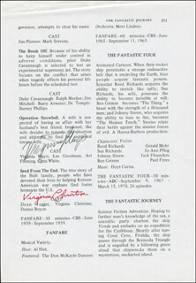 VIRGINIA MAYO - PROGRAM PAGE SIGNED CO-SIGNED BY: JANE WEBB, VIRGINIA CHRISTINE