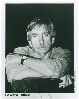 Autographs: EDWARD ALBEE - PRINTED PHOTOGRAPH SIGNED IN INK