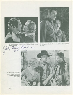 JOHNNY MACK BROWN - BOOK PHOTOGRAPH SIGNED