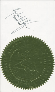 Autographs: GOVERNOR RICHARD H. BRYAN - SIGNATURE(S)