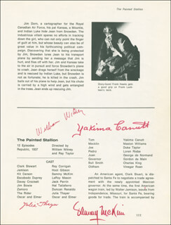 THE PAINTED STALLION MOVIE CAST - BOOK PAGE SIGNED CO-SIGNED BY: JEAN CARMEN, YAKIMA CANUTT, WILLIAM WITNEY, SAMMY McKIM