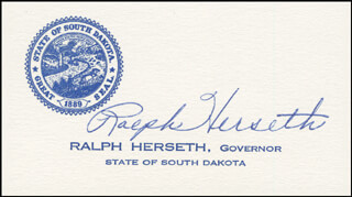 RALPH HERSETH - CALLING CARD SIGNED
