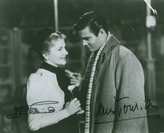 LETTER FROM AN UNKNOWN WOMEN MOVIE CAST - AUTOGRAPHED SIGNED PHOTOGRAPH CO-SIGNED BY: JOAN FONTAINE, LOUIS JOURDAN